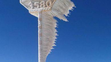 تصویر از قله یخچال